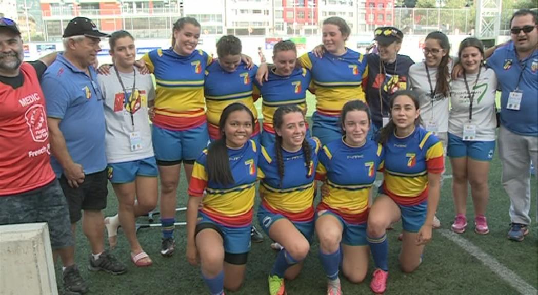 La selecció sub-18 femenina de rugbi 7 jugarà les semifinals de l´Europeu contra Alemanya
