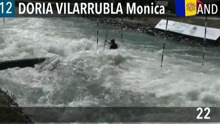 Mònica Doria es queda a les portes de la final en caiac