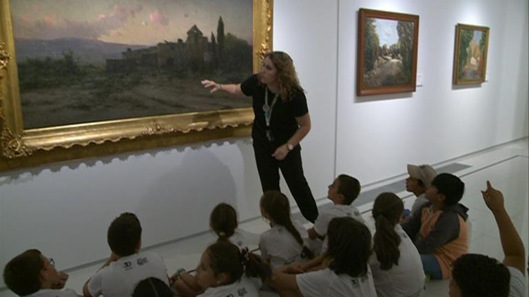 Petits crítics d'art per un dia al Carmen Thyssen