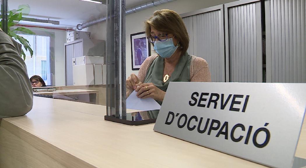 Un 21% menys de persones inscrites al servei d'Ocupació al juny