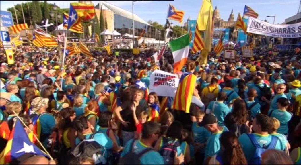 Nova gran manifestació a Barcelona amb motiu de la Diada c