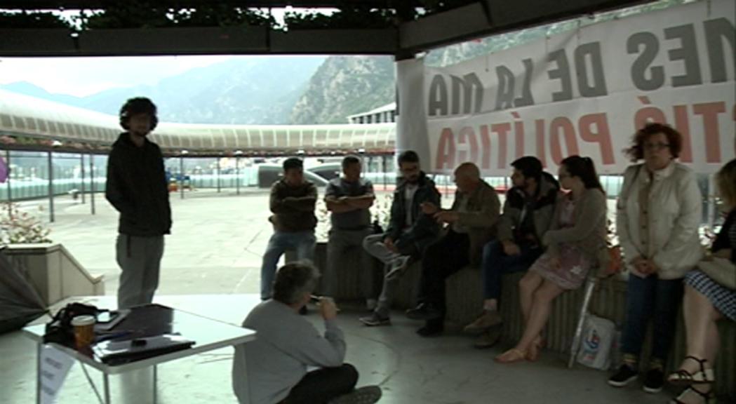 """L'acampada contra els preus dels lloguers denuncia una """"emergència social"""""""