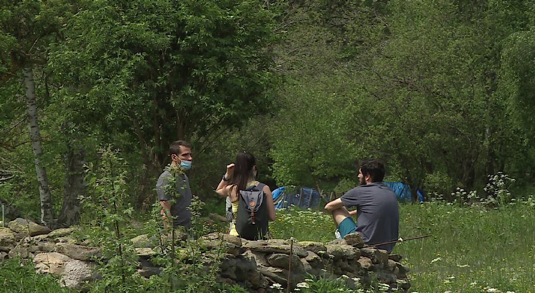 L'afluència de gent augmenta a les zones de muntanya