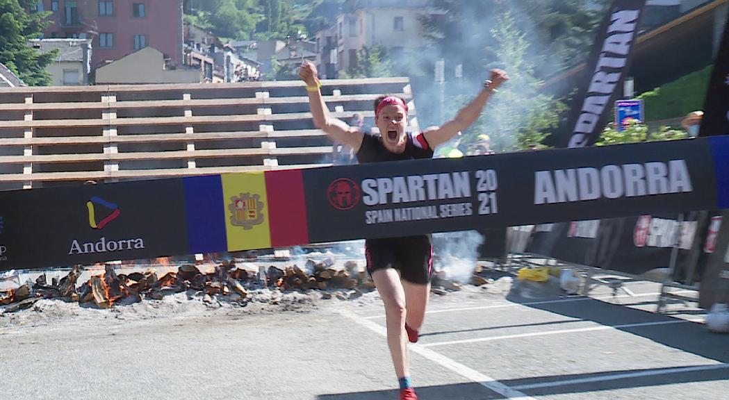 Albert Soley i Jezabel Kremer fan doblet a la Spartan Race d'Encamp i s'imposen també a la cursa Súper