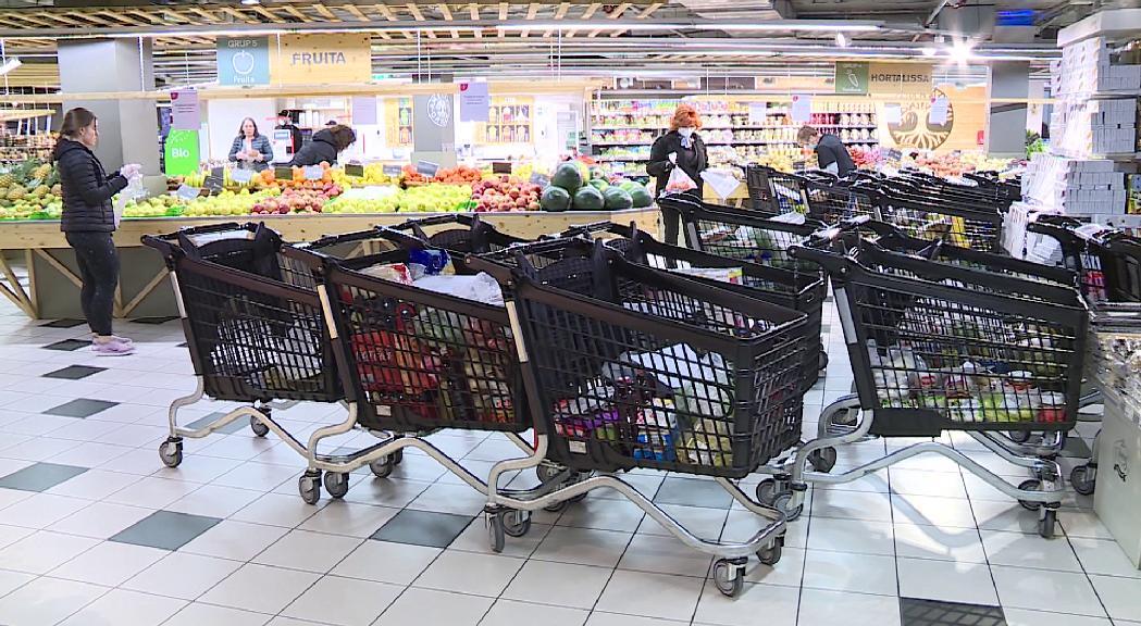 L'alimentació sosté les vendes de les grans superfícies
