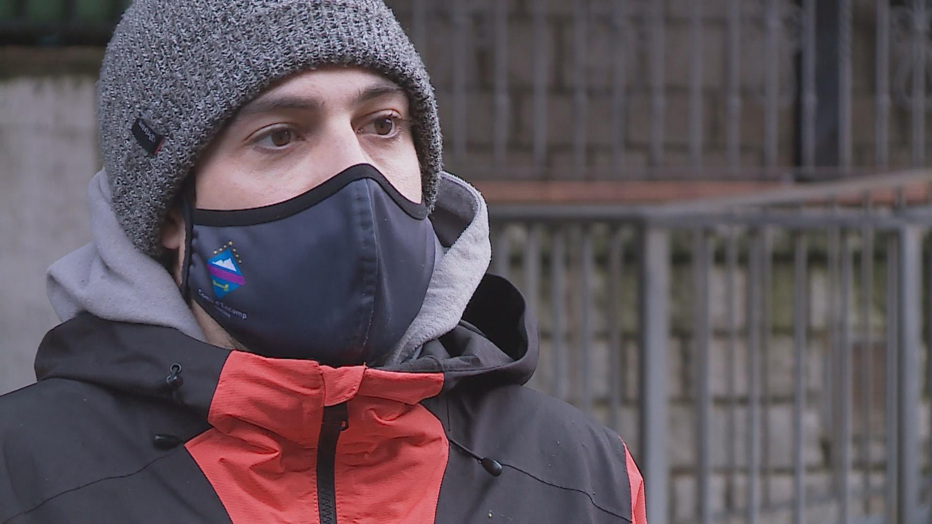 Álvaro Rodríguez, a punt de concloure a Engolasters el rodatge de 'Under the ice'