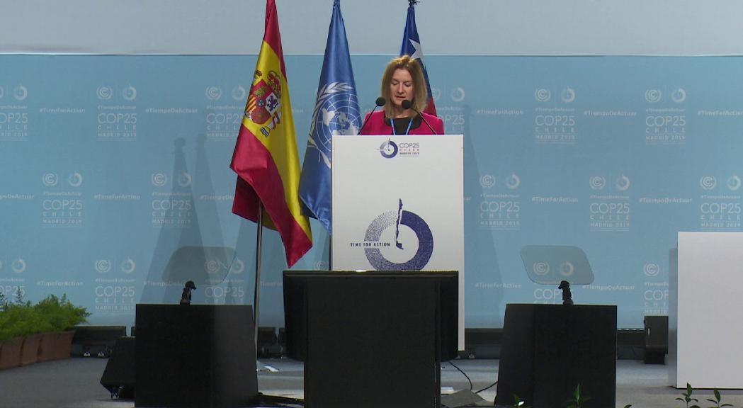 Andorra anuncia a la COP25 que redoblarà els esforços contra l'emergència climàtica
