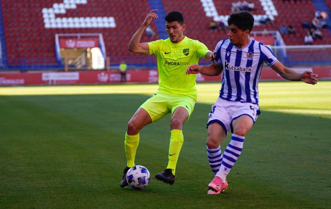 Un Andorra amb dos jugadors menys cau 2 a 1 contra la Reial Societat B i queda eliminat del play-off d'ascens a Segona A