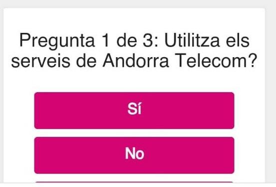 Andorra Telecom ha alertat aquest dimecres d'un frau per SMS.