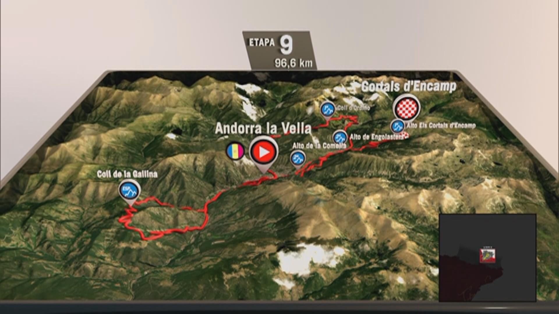 Andorra tindrà una de les etapes més dures de la Vuelta 2019