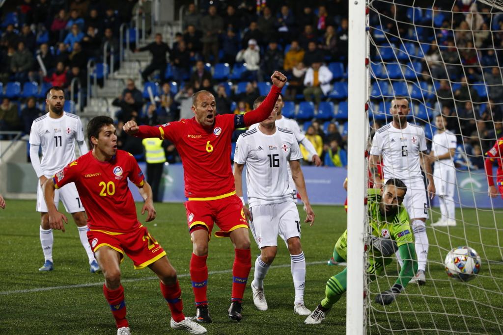 Andorra es torna a fer forta a l'Estadi amb un empat contra Geòrgia (1-1)
