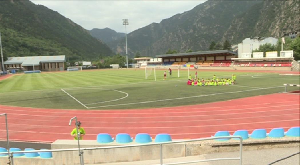 Andorra la Vella espera entre 300 i 400 usuaris diaris a l'aquaparc del Joan Samarra