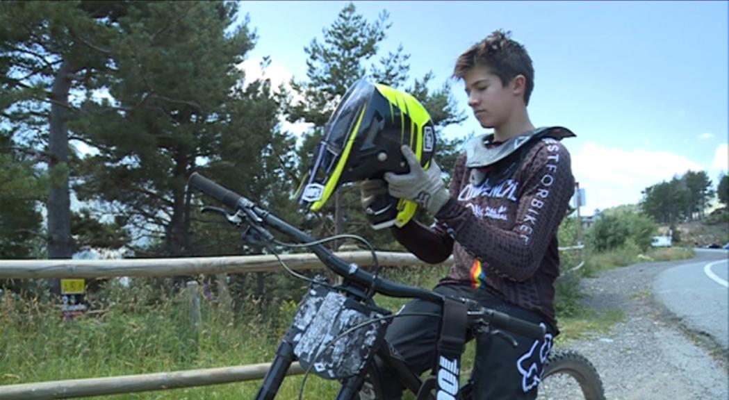 Arnau Graslub és 24è al Mundial cadet de descens en BTT