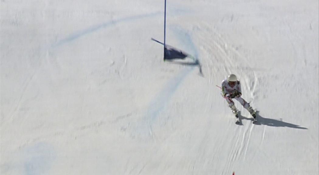 Àxel Esteve torna a esquiar després de set mesos lesionat
