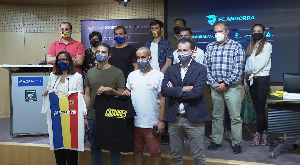 """""""Batec tricolor"""", la composició d'Els Catarres per a l'himne del FC Andorra"""