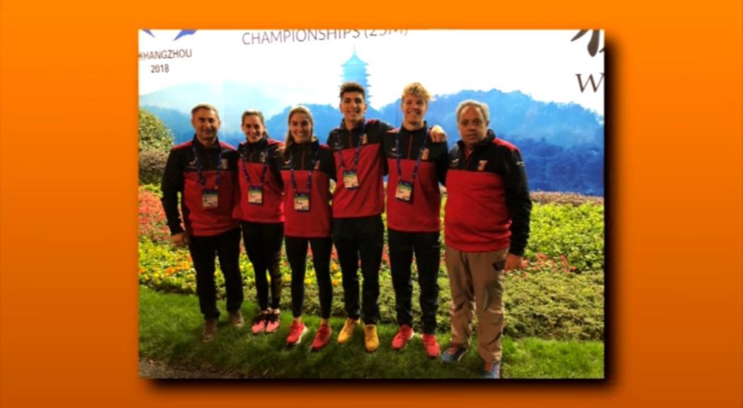 Bernat Lomero bat el rècord d'Andorra en 50 papallona