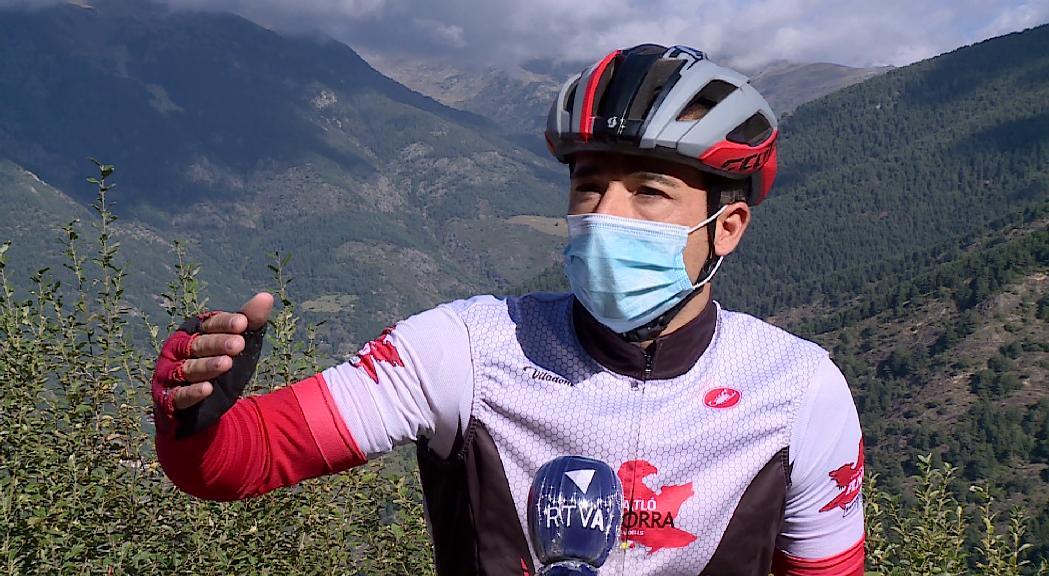 Berroya completa el tercer 'Everesting' amb 14 ascensions amb bici al coll d'Ordino