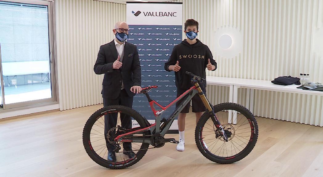 El biker Arnau Graslaub s'afegeix als joves talents patrocinats per Vall Banc