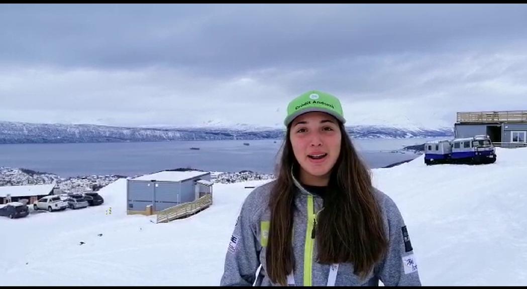 Cande Moreno iguala el millor resultat d'un esquiador andorrà en un Mundial Júnior