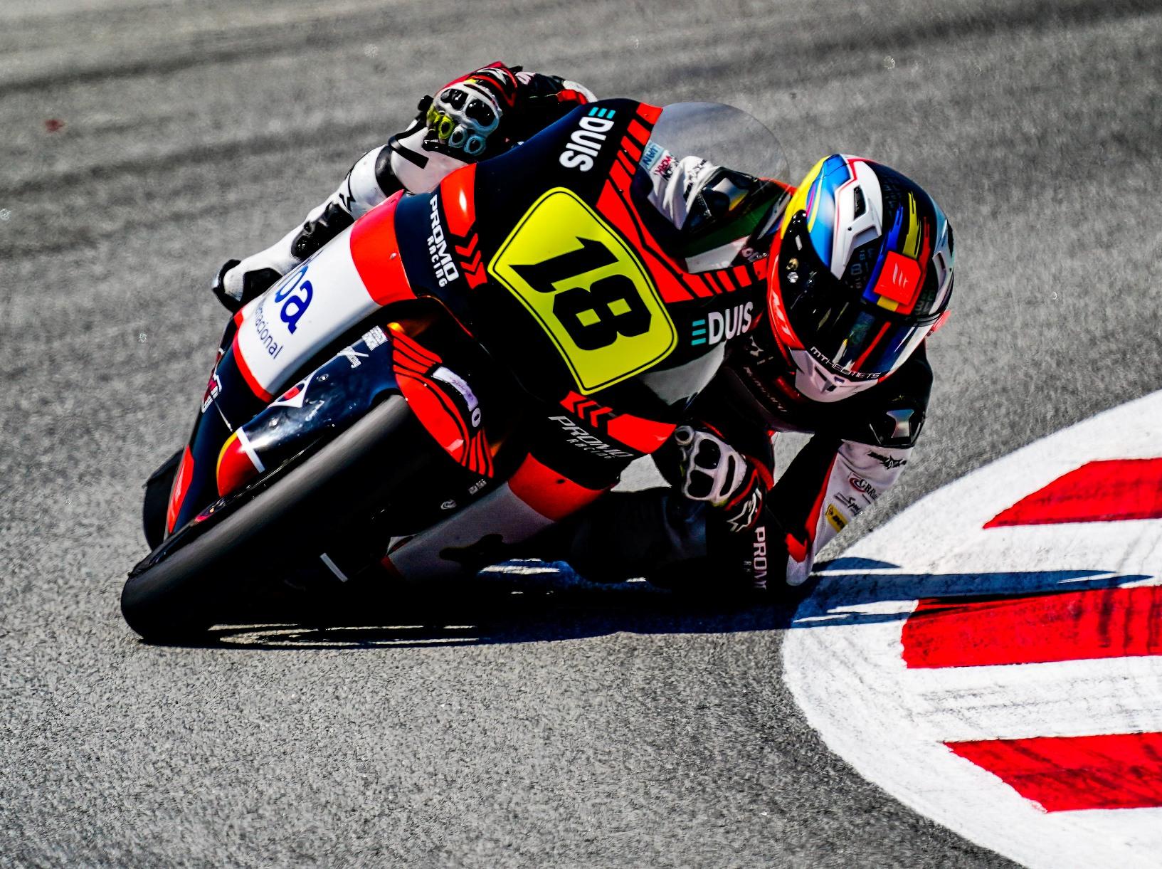 Cardelús frega el podi en les dues curses de l'Europeu de Moto2 a Montmeló