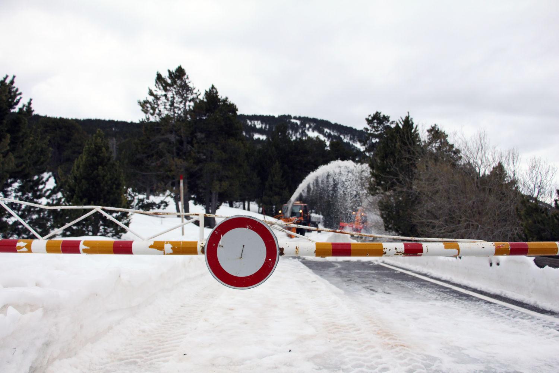 La carretera del coll d'Ordino queda tancada fins a la primavera