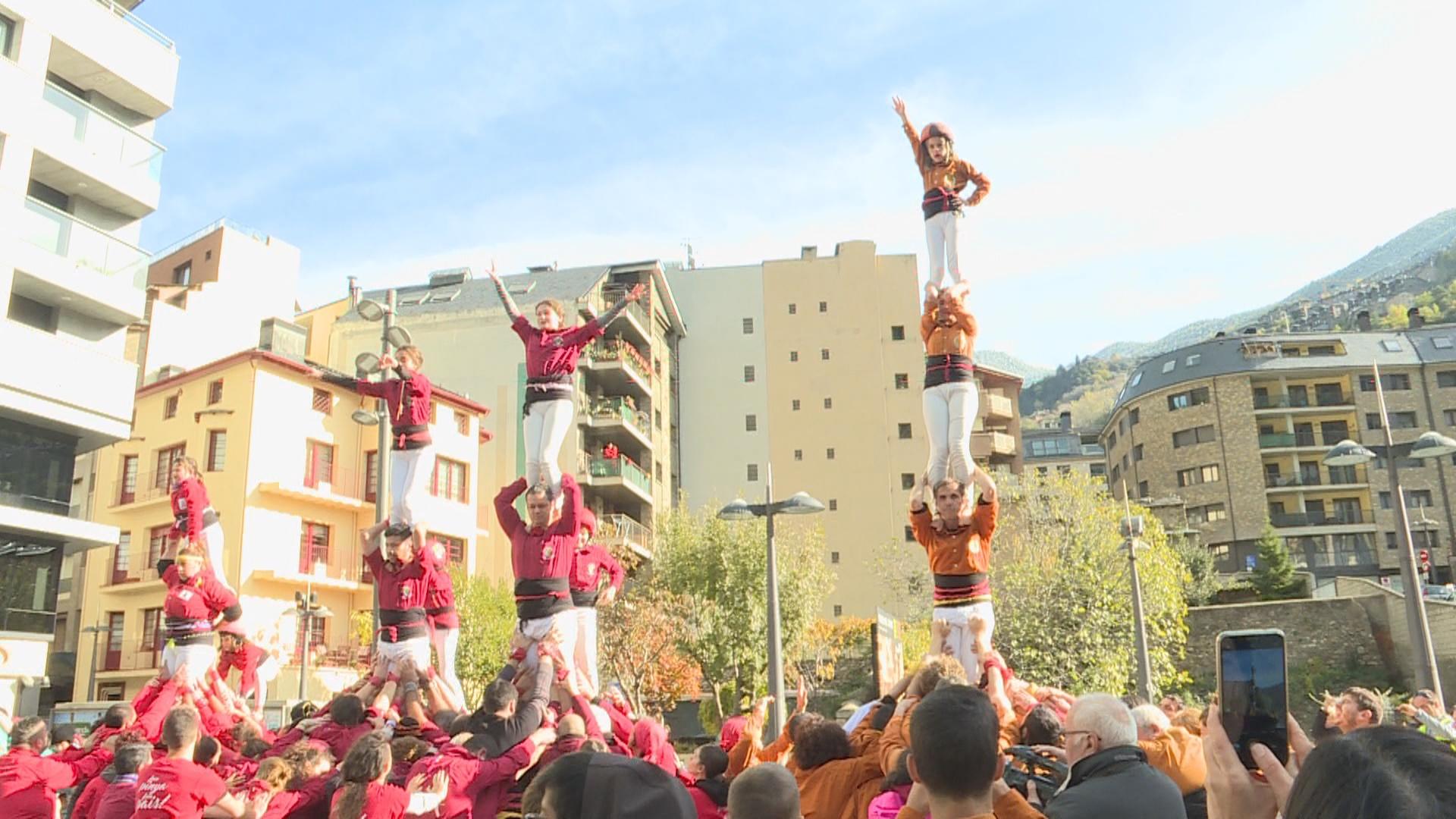Els Castellers d'Andorra tanquen temporada amb la cinquena diada de la colla
