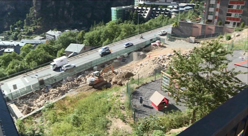 Comencen les obres dels aparcaments de la carretera de l'Obac i de la Plana, a Escaldes-Engordany