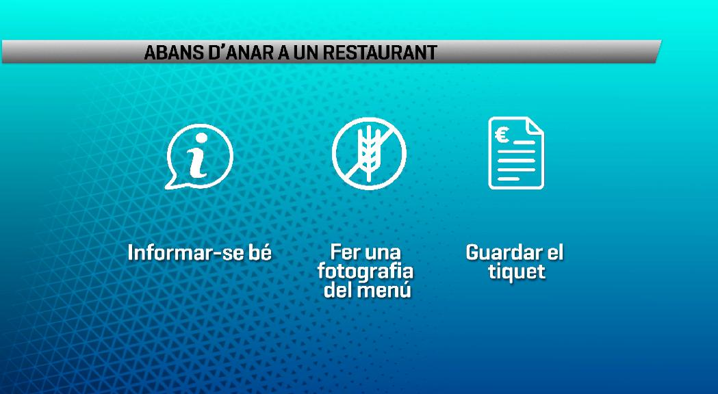 Consells per als celíacs: informar-se abans d'anar a un restaurant i reclamar en cas d'intoxicació