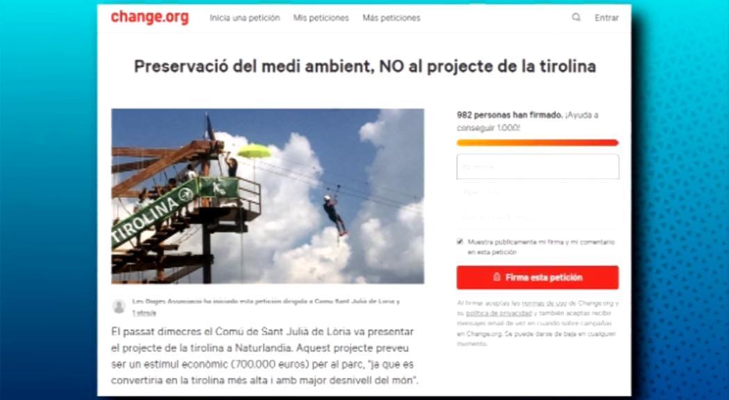 Vila confia que s'entenguin les explicacions del comú sobre el projecte de la tirolina a la reunió de poble