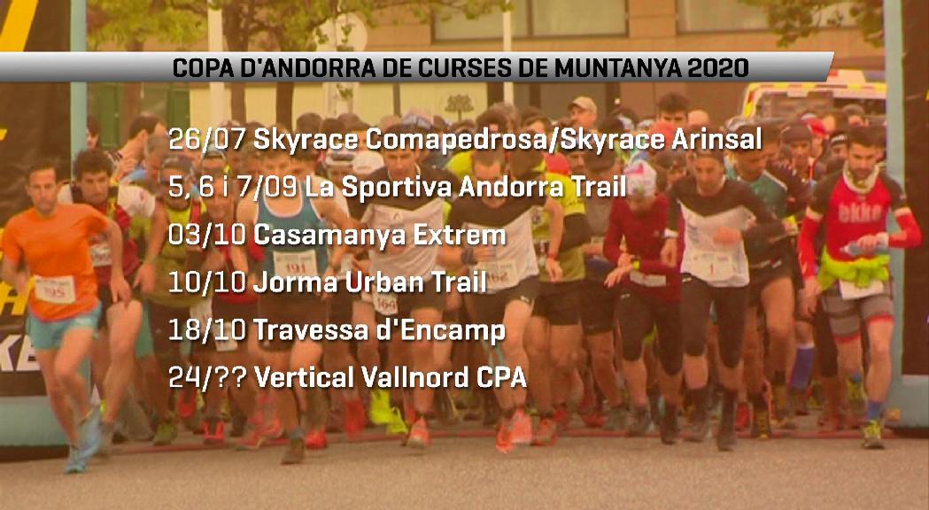 La Copa d'Andorra de curses de muntanya presenta un calendari que comença el 26 de juliol