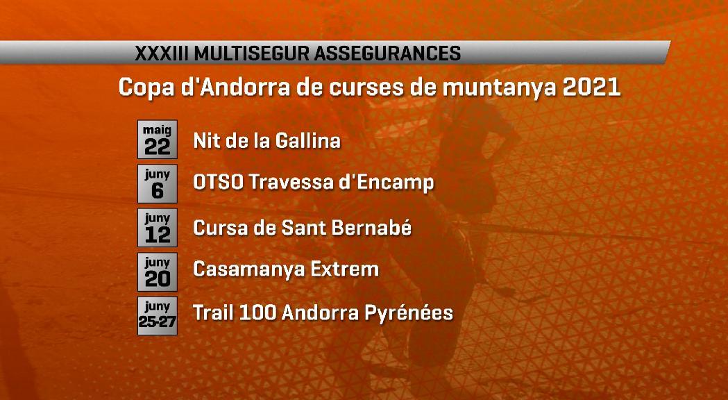La Copa d'Andorra de curses de muntanya torna amb 11 proves i la novetat de la Trail 100 Andorra Pyrénées