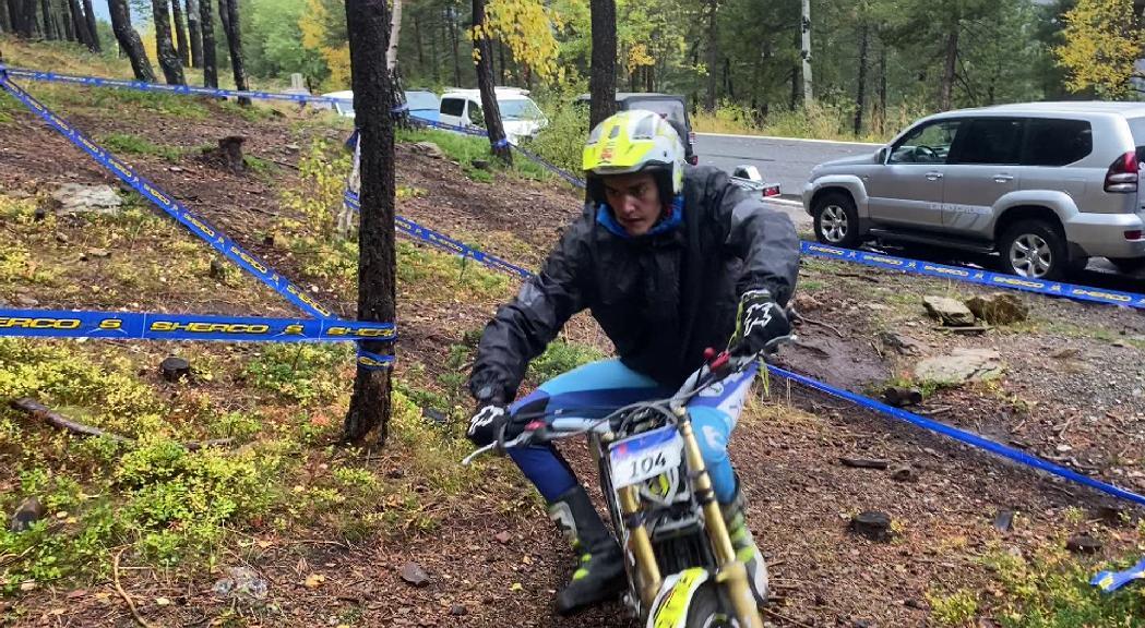 Darrera prova del Campionat d'Andorra de trial a Naturlandia acompanyada per la pluja