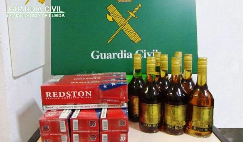 La guàrdia civil ha interceptat aquest diumenge a Guissona