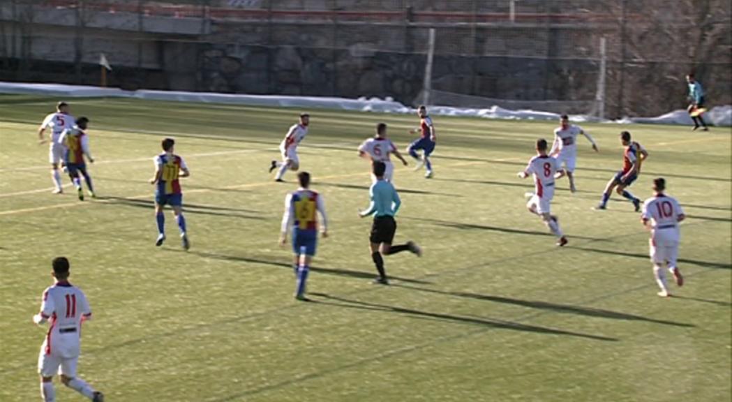 Exhibició del nou FC Andorra en el  debut a Prada de Moles