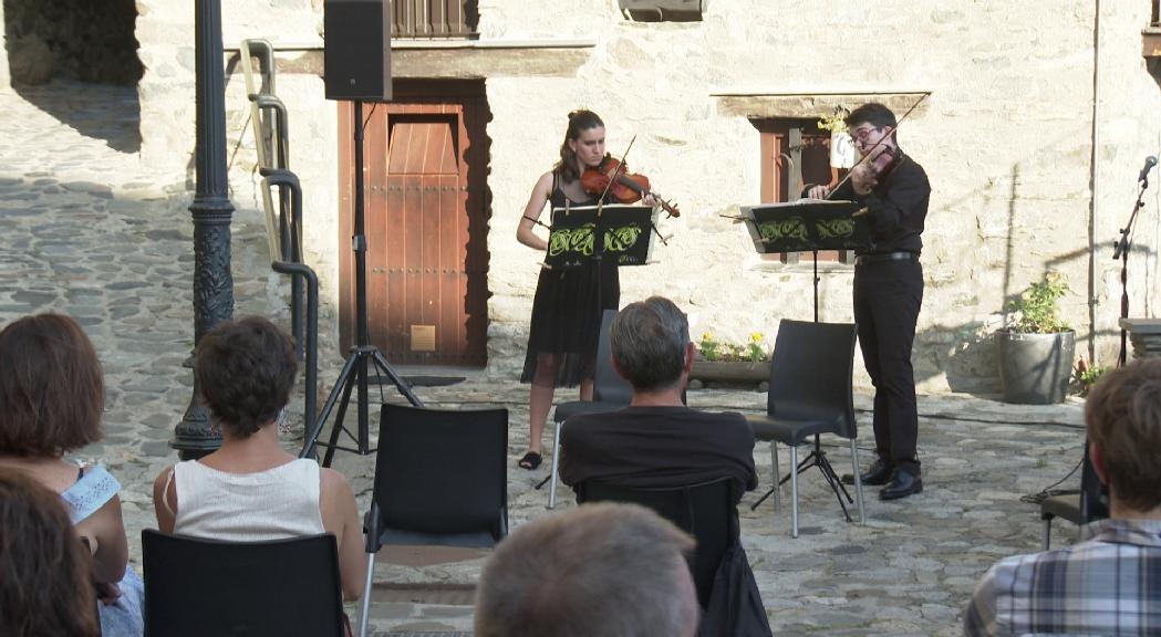 El diàleg entre violí i viola protagonitza l'Engordany a duo de la JONCA