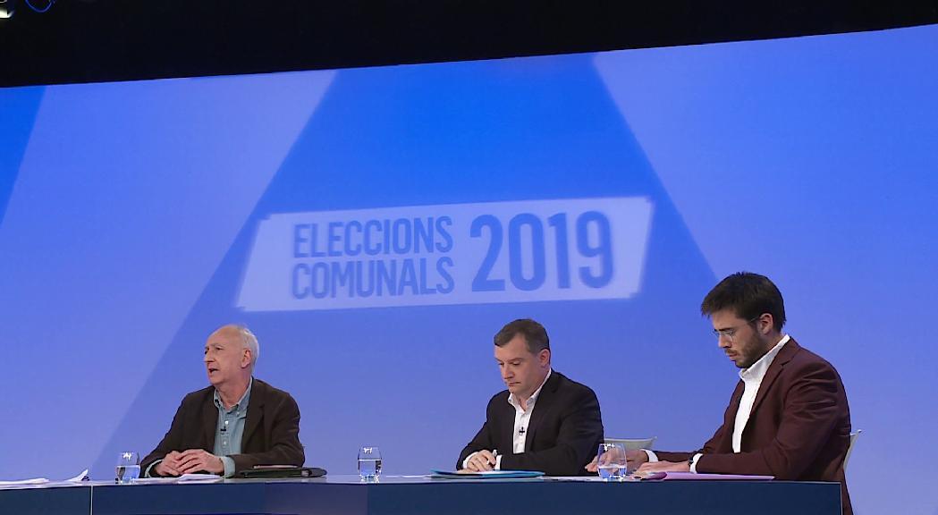 Discrepàncies sobre Naturlàndia i acord pel vial o la universitat entre els candidats de Sant Julià al debat d'ATV