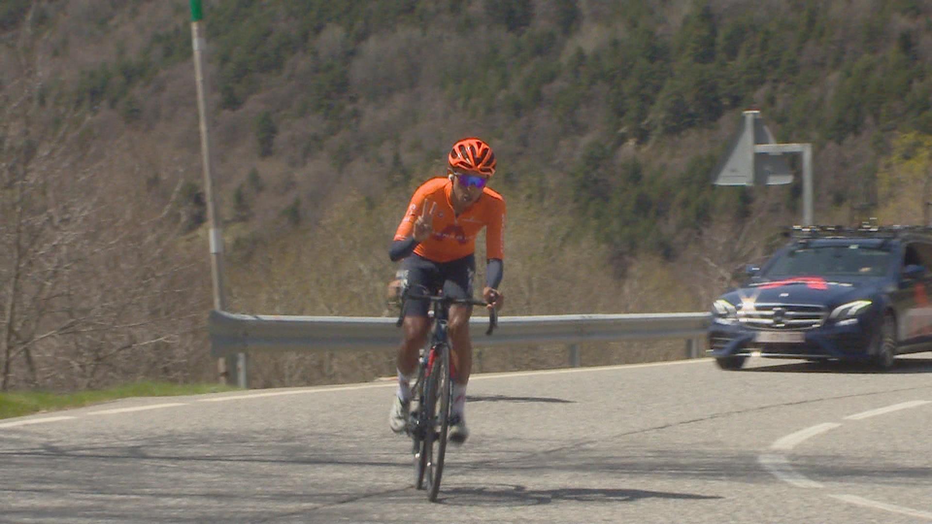 Egan Bernal entrena aquests dies a Andorra amb l'equip Ineos