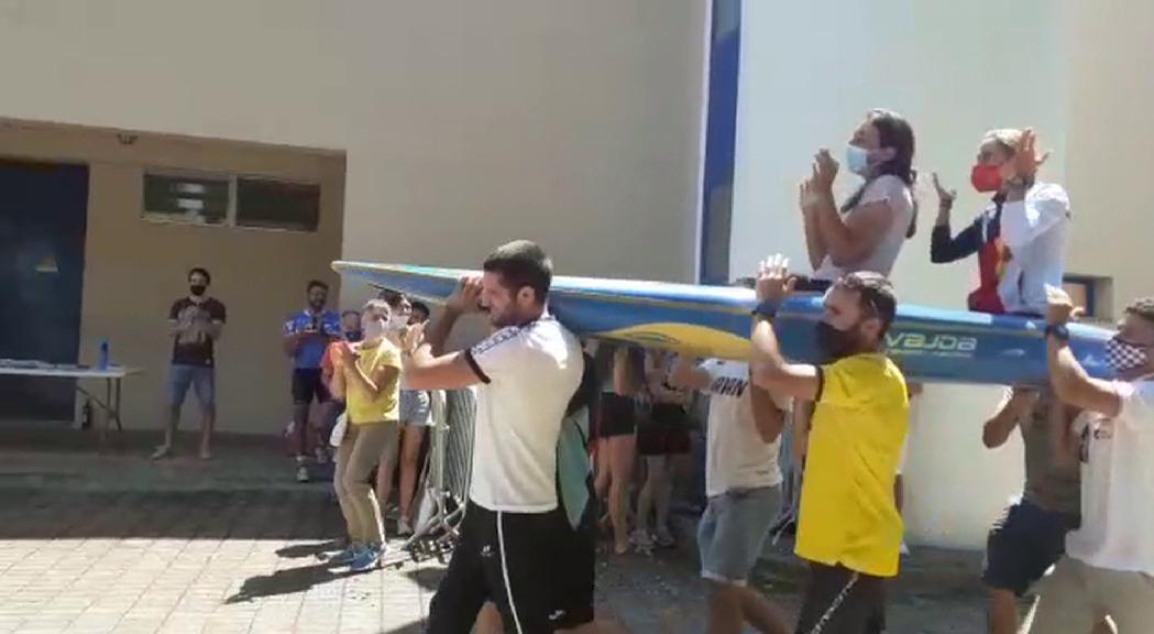 Emotiva rebuda a Mònica Doria després dels Jocs