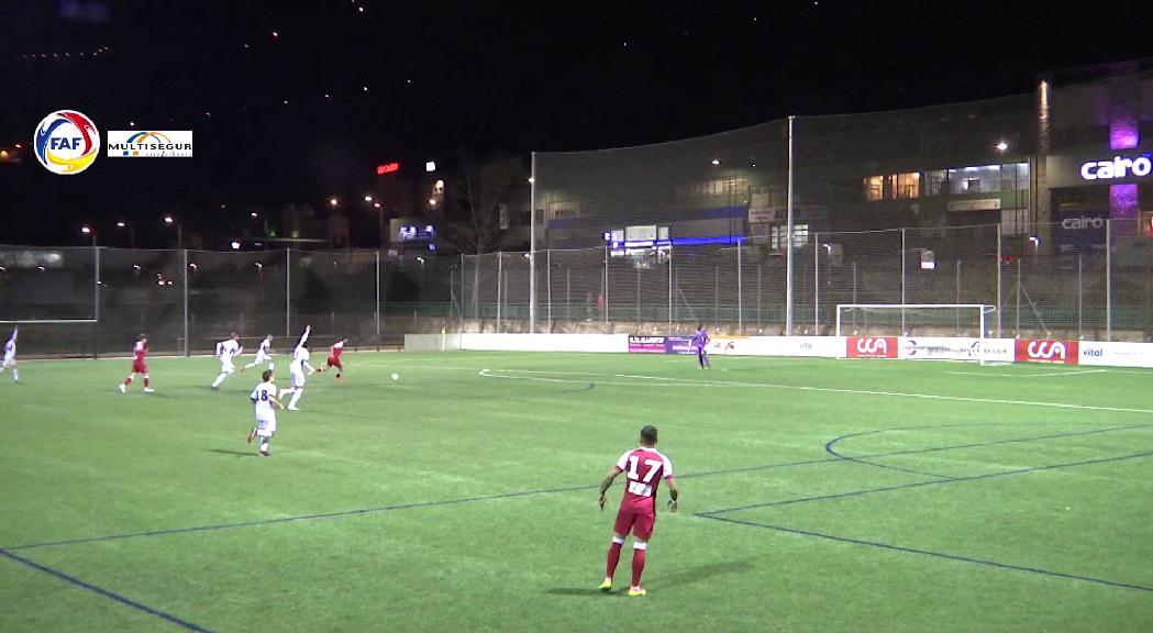 Empat entre Atlètic d'Escaldes i Engordany en la represa del partit suspès per l'agressió (1-1)