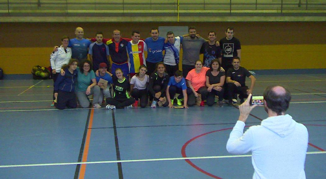 L'equip comunal d'Escaldes-Engordany, alumnes per un dia de l'equip de futbol d'Special Olympics