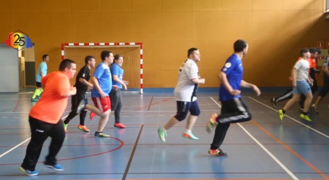 L'equip de futbol dels Special Olympics participa en un torneig a Holanda