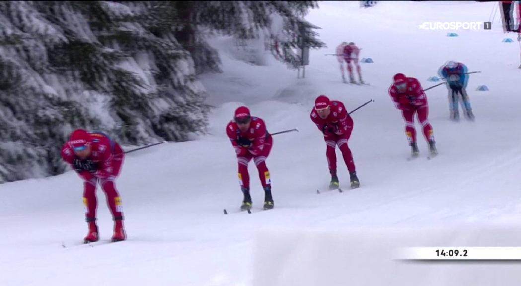 Esteve és 25è en la cinquena etapa del Tour d'Ski i manté el 18è lloc a la general