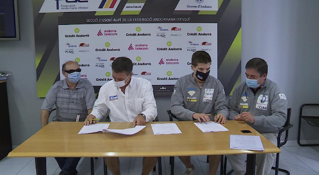 La Fadea i la FAE signen un acord de col·laboració per a l'entrenament de Roger Puig
