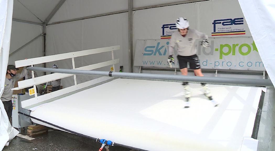 La FAE ja s'entrena amb el simulador d'esquí