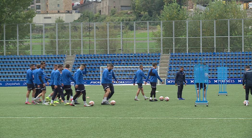 El FC Andorra, amb confiança per buscar la segona victòria consecutiva davant el líder