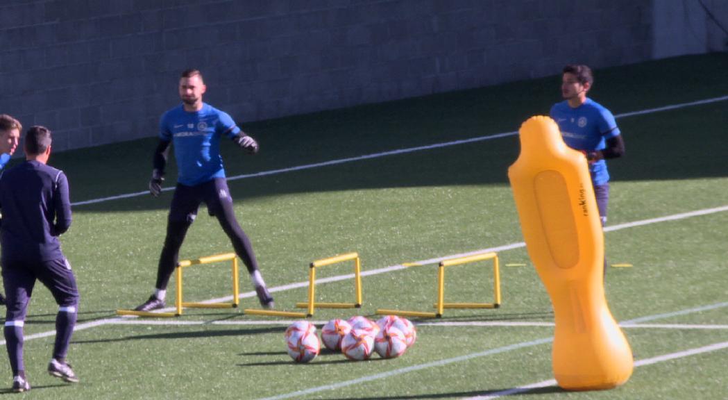 El FC Andorra amb la mirada posada a diumenge i en una possible sanció del comitè al seu entrenador Eder Sarabia, que  va ser expulsat a Vila-real