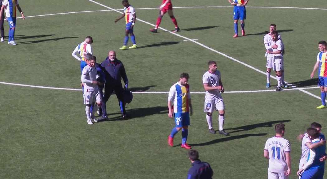 L'FC Andorra no reacciona i encaixa la tercera derrota consecutiva davant l'Atlètic Llevant (0-1)