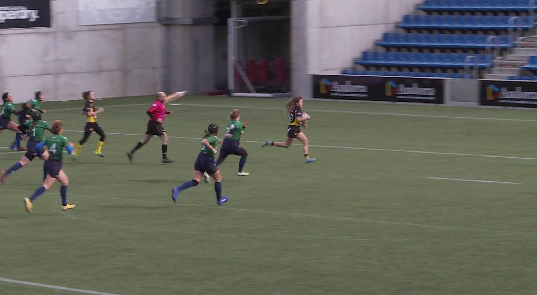 El femení del VPC s'estrena a l'Estadi amb una victòria contundent davant del Sitges (33-5)