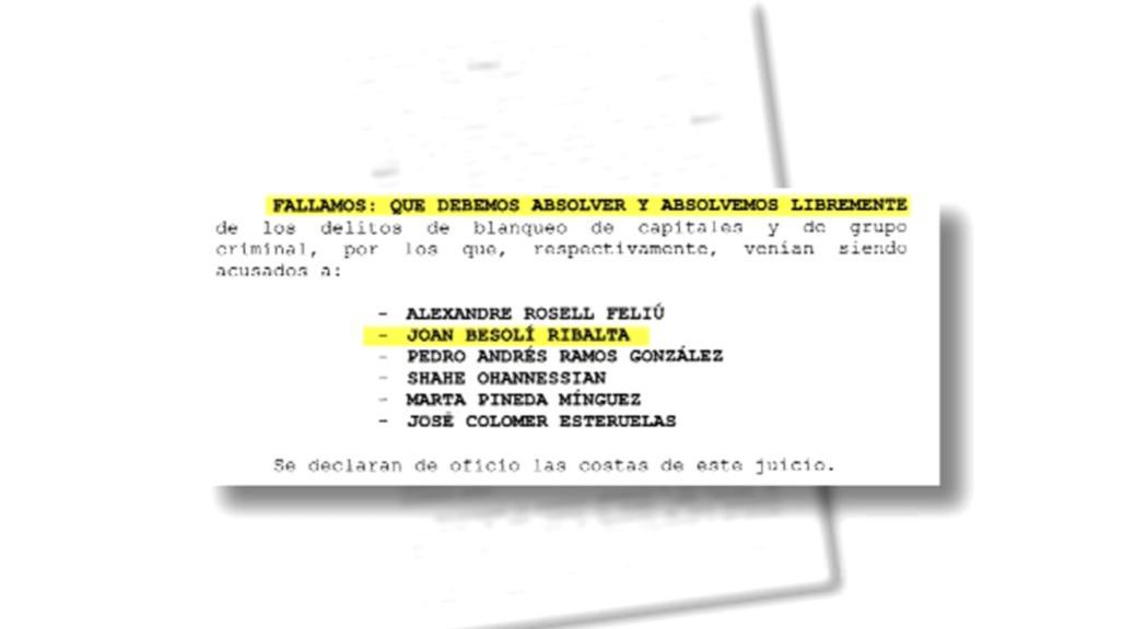 La fiscalia recorrerà contra l'absolució de Joan Besolí i Sandro Rosell