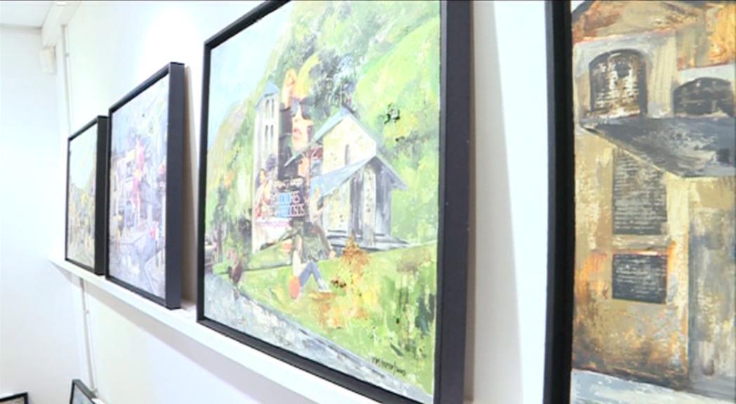 La galeria Art al Set exhibeix quinze pintures de Vives-Fierro sobre Andorra